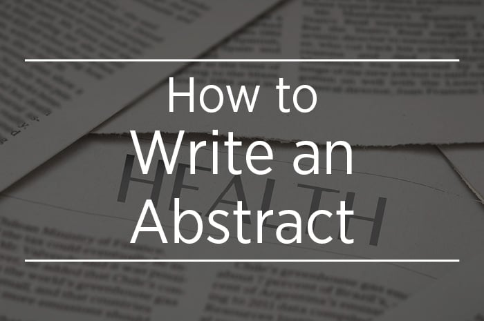 Writing a Project Abstract image